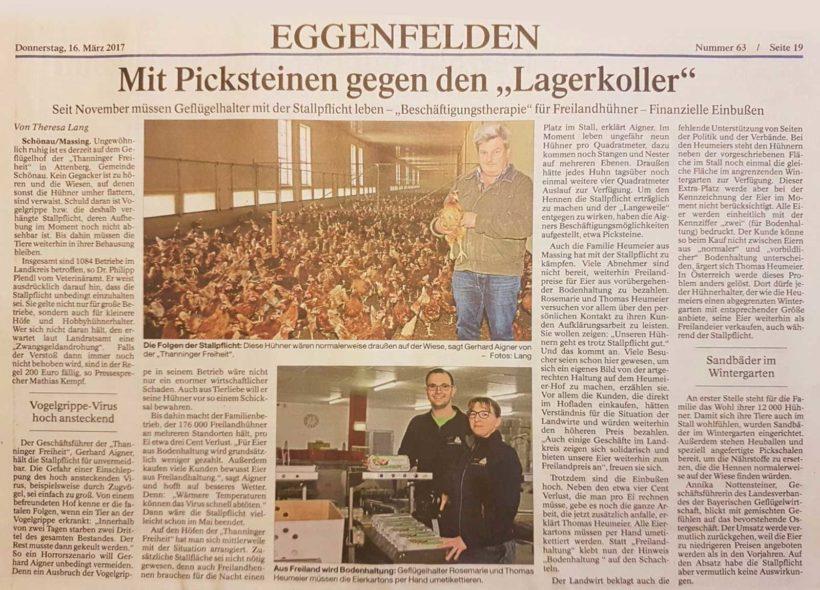 PNP berichtet über den Heumeier-Hof